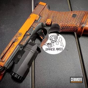 Cerakoted Battleworn And Laser Engraved Glock 17 Handgun
