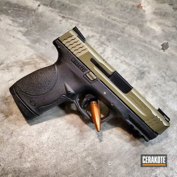Cerakoted Two Toned Smith & Wesson Handgun Using Cerakote H-146 And H-204