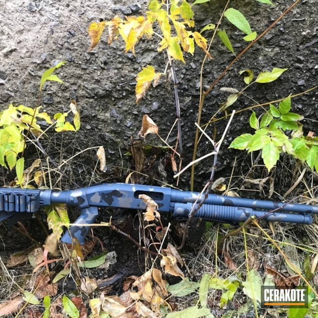 Cerakoted: S.H.O.T,Flecktarn,MultiCam,Shotgun,Graphite Black H-146,Gun Metal Grey H-219,KEL-TEC® NAVY BLUE H-127,Gun Coatings,Urban Multicam