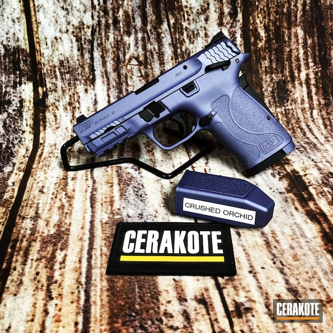 Smith & Wesson Handgun Cerakoted with H-314 Crushed Orchid