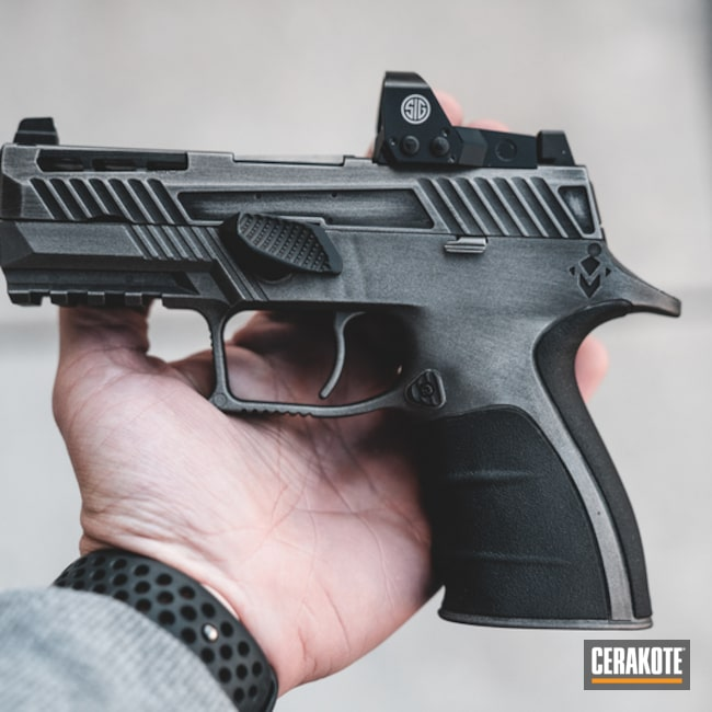 "Thumbnail image for project ""Grey Battleworn Sig Sauer Handgun"""