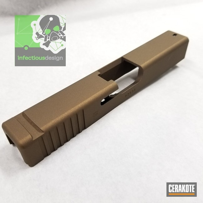 "Thumbnail image for project ""Glock Slide Cerakoted in H-148 Burnt Bronze"""
