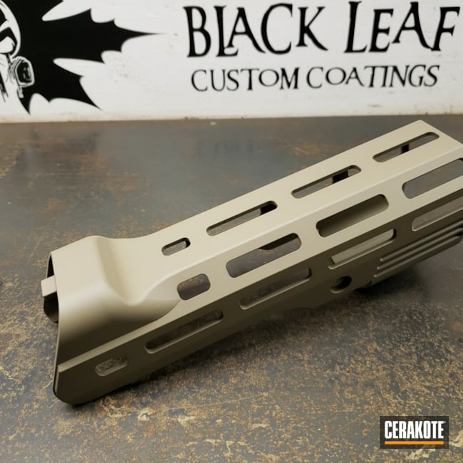"Thumbnail image for project ""Tavor Handguard Cerakoted in H-265"""