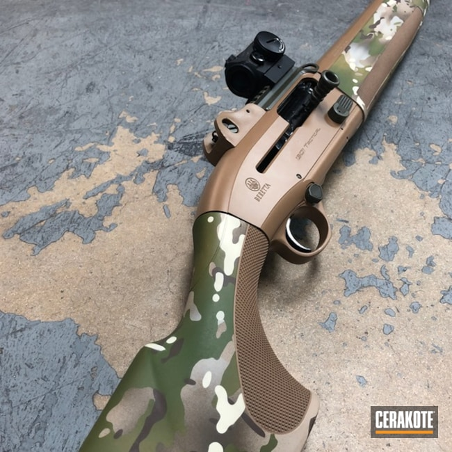 Cerakoted Beretta 1301 Tactical Shotgun With Cerakote Multicam Finish