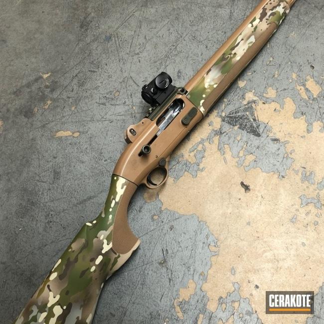 Cerakoted: S.H.O.T,Beretta 1301 Tactical,20150 E-190,Cerakote Elite Series,Hunting,Tactical Shotgun,Shotgun,MultiCam,Camo,BENELLI® SAND H-143,Beretta,Gun Coatings,Matte Brown H-7504M,Chocolate Brown H-258