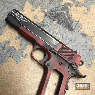 Cerakoted Deadpool Themed Rock Island Armory 1911 Handgun