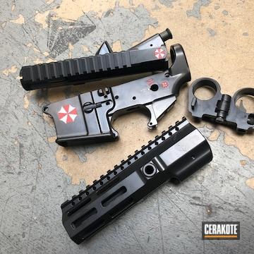 Cerakoted Umbrella Corp Themed Gun Parts
