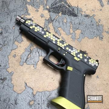 Cerakoted Glock 34 Handgun With Cerakote Hex Camo