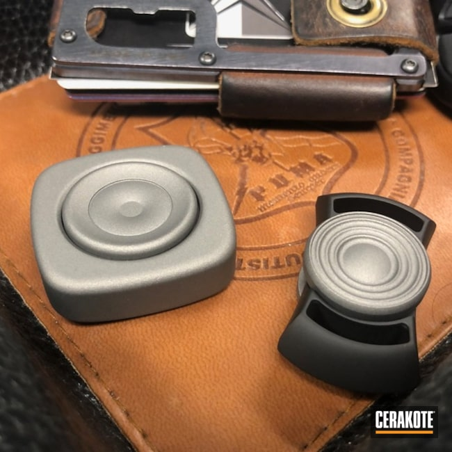 Cerakoted: Lifestyle,Fidget Spinner,Titanium H-170,Armor Black H-190,More Than Guns,EDC
