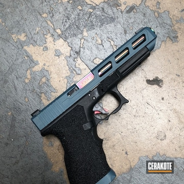 Cerakoted Glock 34 Handgun Cerakoted With H-185 Blue Titanium
