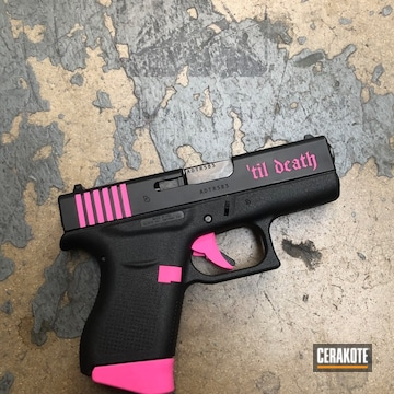 Cerakoted Two Toned Glock 43 Handgun With Color Fill
