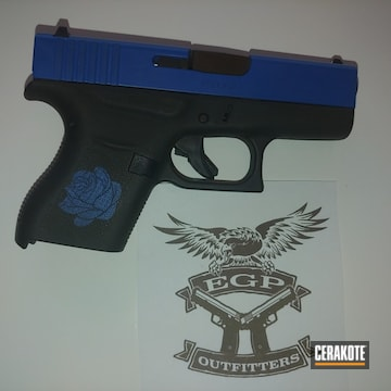 Cerakoted Two Toned Glock 43 With Cerakote H-146 And H-171