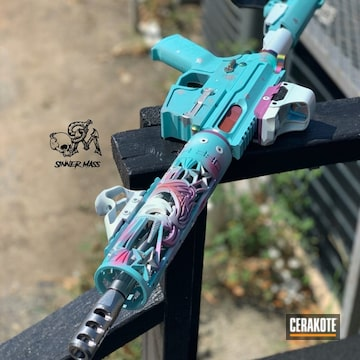 Cerakoted Unicorn Themed Ar-15 9mm Pistol