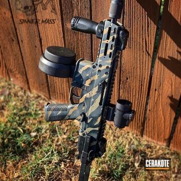 Cerakoted Tactical Rifle With A Cerakote Tiger Stripe Finish