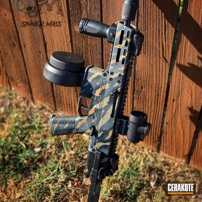 Cerakoted: S.H.O.T,Noveske Tiger Eye Brown H-187,9mm,Midnight E-110,Tiger Stripes,Cerakote Elite Series,MultiCam,Tactical Rifle,Gun Coatings,Flat Dark Earth H-265