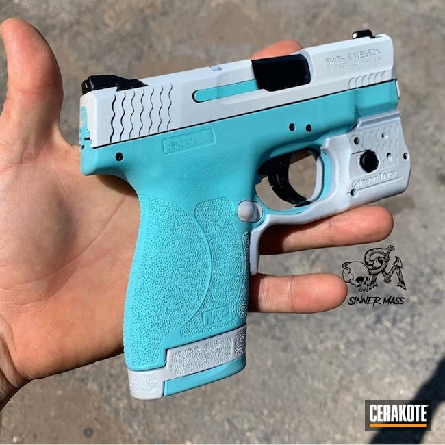 Two Toned Smith & Wesson Handgun