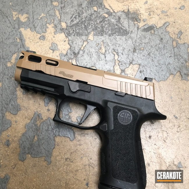 Two Toned Sig Sauer using Cerakote H-190 20150