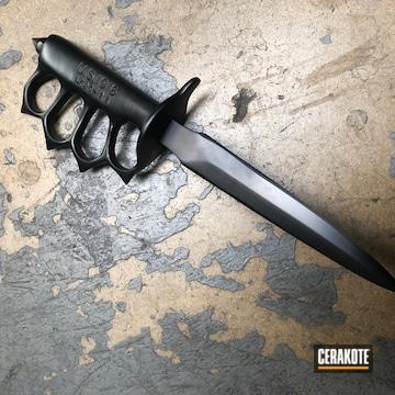 Cerakoted Cerakoted Fixed Knife / Brass Knuckles Using E-110
