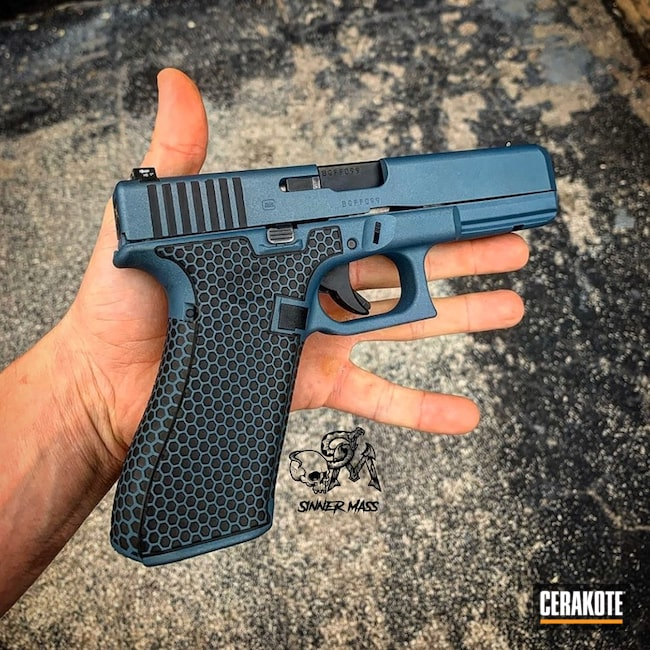 "Thumbnail image for project ""Two Toned Glock 17 with Cerakote H-146 and H-170"""