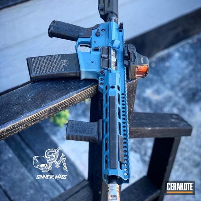 Cerakoted: SHOT,Graphite Black H-146,Tactical Rifle,Gun Coatings,5.56,Blue Titanium H-185,AR-15