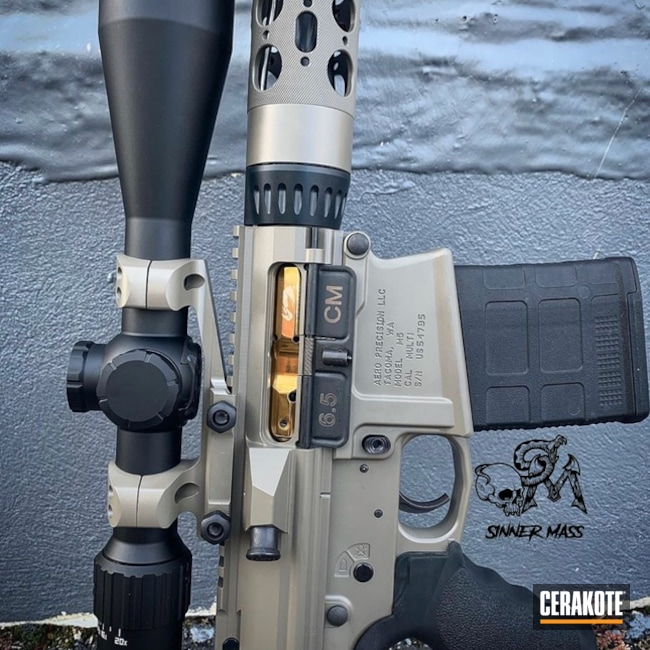 "Thumbnail image for project ""Two Toned Rifle with Cerakote Elite Midnight and Sand"""