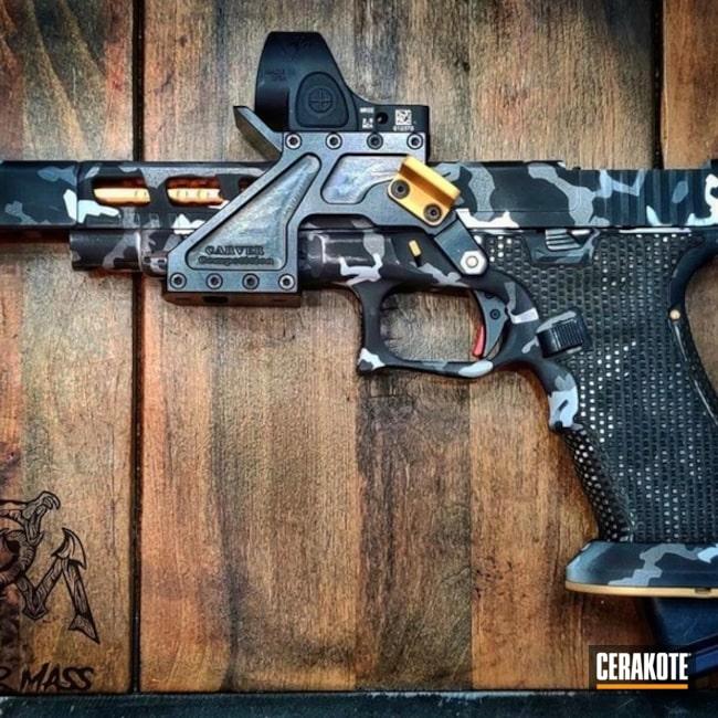 Cerakoted: Laser Stippled,Glock 34,Tungsten H-237,Stippled,Pistol,Laser Engrave,Custom Camo,Gold H-122,SHOT,Sniper Grey H-234,MultiCam,Graphite Black H-146,Compensator,BATTLESHIP GREY H-213,Glock,Competition Gun,Gun Coatings