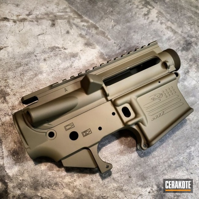 Cerakoted Aero Precision Upper / Lower Cerakoted With H-204 Hazel Green