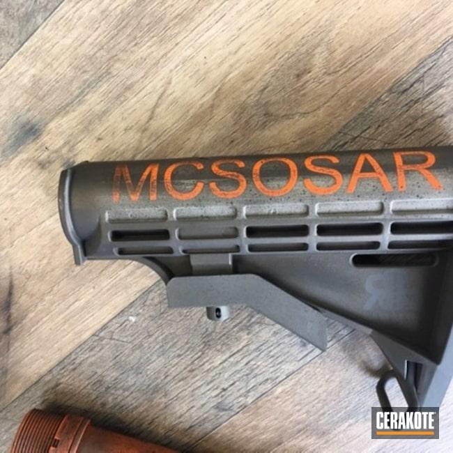 Cerakoted: SHOT,MAGPUL® FLAT DARK EARTH H-267,Desert Sand H-199,Burnt Bronze H-148,Patriot Brown H-226,Tactical Rifle,Gun Coatings,Theme,Search and Rescue,Hunter Orange H-128,AR-15