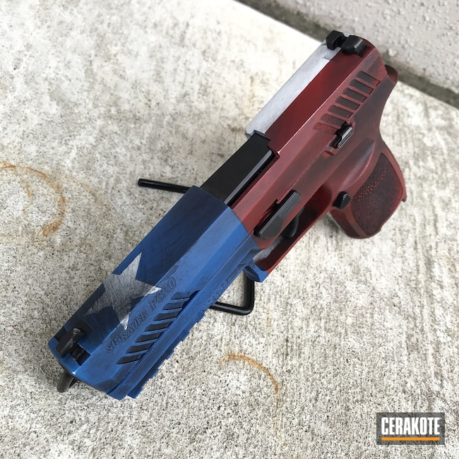 Cerakoted: SHOT,NRA Blue H-171,Snow White H-136,Crimson H-221,Gun Coatings,Theme,Texas Flag