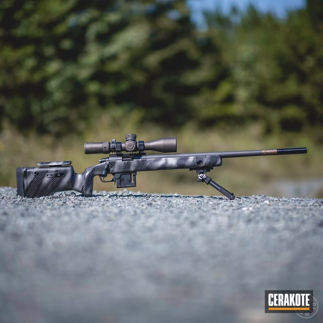 Bolt Action Rifle with Cerakote H-170, H-190 and H-237