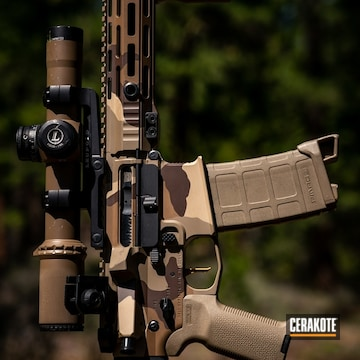 Cerakoted M81 Arid Multicam Finish