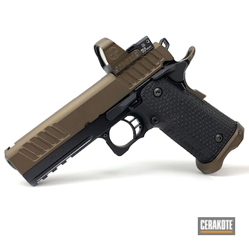 Cerakoted Two Toned Sti Staccato P Handgun