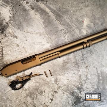 Cerakoted Remington 870 Shotgun Cerakoted With H-148 Burnt Bronze