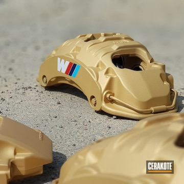 Cerakoted Bmw Brake Calipers Cerakoted In H-122, H-169, H-140 And H-167