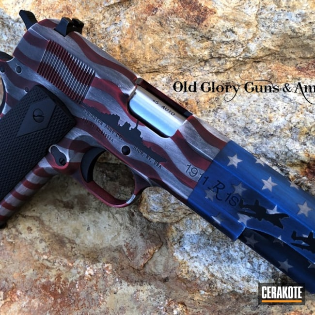Distressed American Flag Finish on this Remington 1911 R1