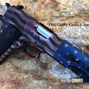 Cerakoted Distressed American Flag Finish On This Remington 1911 R1