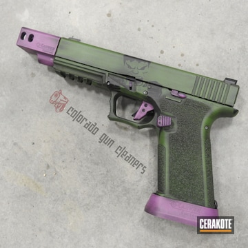 Cerakoted Polymer80 Handgun With A Hulk Themed Cerakote Finish