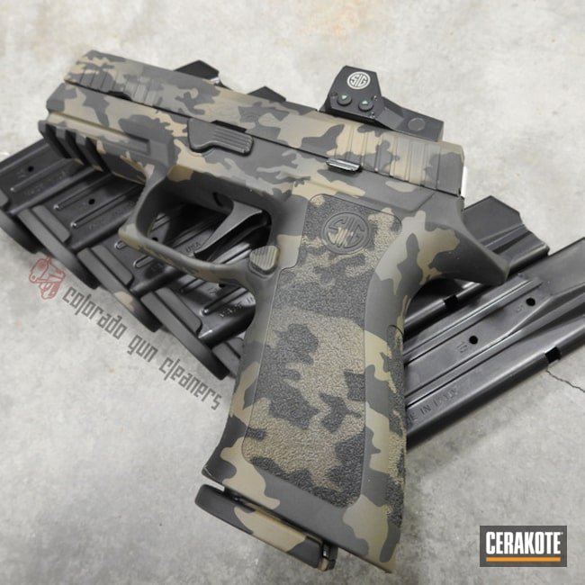 Sig Sauer P320 Handgun with a Cerakote MultiCam Finish