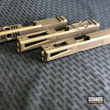 Cerakoted Milled Pistol Slides Cerakoted With H-148 Burnt Bronze