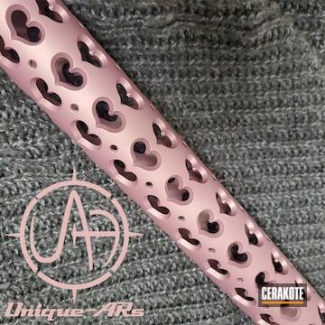 Cerakoted Handguard Cerakoted In H-311 Pink Champagne
