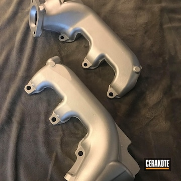 Cerakoted Exhaust Manifold Cerakoted In C-255 Crushed Silver