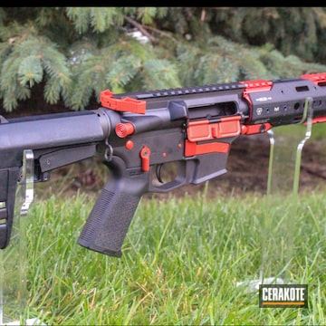 Cerakoted Custom Cmmg Rifle Cerakoted With H-216 And H-146