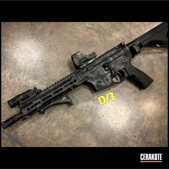 "Thumbnail image for project ""AR-15 in a MultiCam Black Cerakote Finish"""