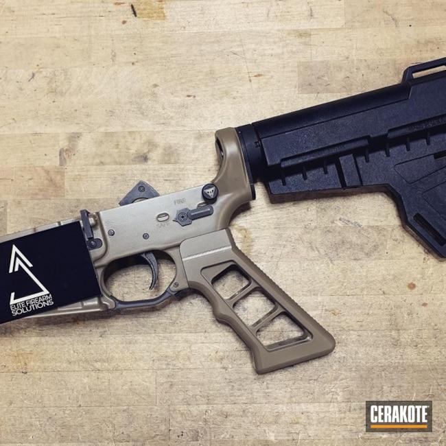 Cerakoted: S.H.O.T,Cerakote Elite Series,AR Pistol,Complete Lower,FDE E-200,Tactical Rifle,.223,Gun Coatings,Semi-Auto,5.56,AR-15,AR 308