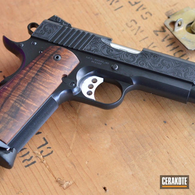 1911 Handgun with Cerakote E-100 Blackout