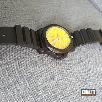 Cerakoted Victorinox Watch Body Cerakoted With H-146 Graphite Black