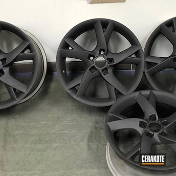 Cerakoted Custom Set Of Rims Cerakoted In H-146 Graphite Black
