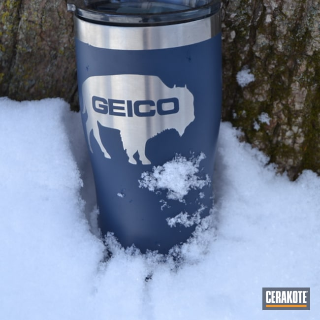 Cerakoted: Custom,Lifestyle,Geico,More Than Guns,Contracts,KEL-TEC® NAVY BLUE H-127,Buffalo,Custom Tumbler Cup,Tumbler,Snow