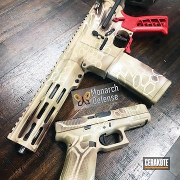 Cerakoted Matching Glock And Ar Pistol With Custom Cerakote Kryptek Finish