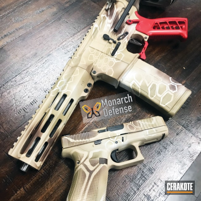 Cerakoted: S.H.O.T,Hidden White H-242,Kryptek,AR Pistol,BARRETT® BRONZE H-259,Glock,Gun Coatings,Noveske Bazooka Green H-189,Matching